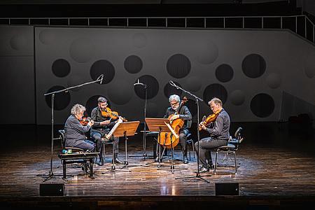 Arditti Quartet im Konzertsaal der HfM Dresden/Foto: Marcus Lieder