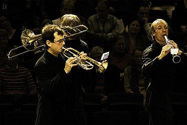 [Translate to Englisch:] Bläser im Konzert/Foto: Marius Leicht