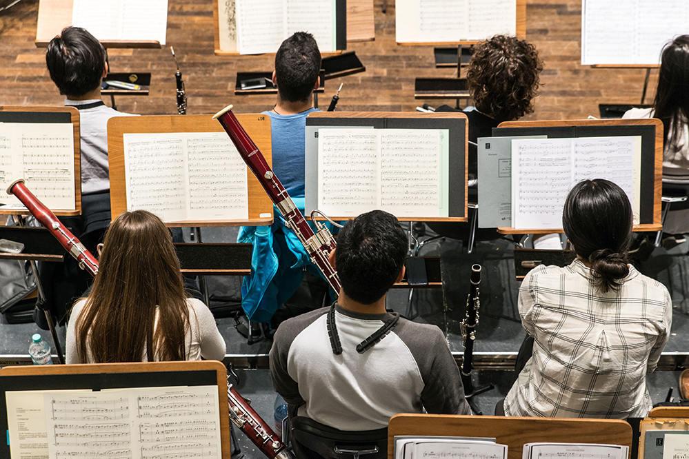 Holzbläser im Hochschulsinfonieorchester/Foto: Marcus Lieder