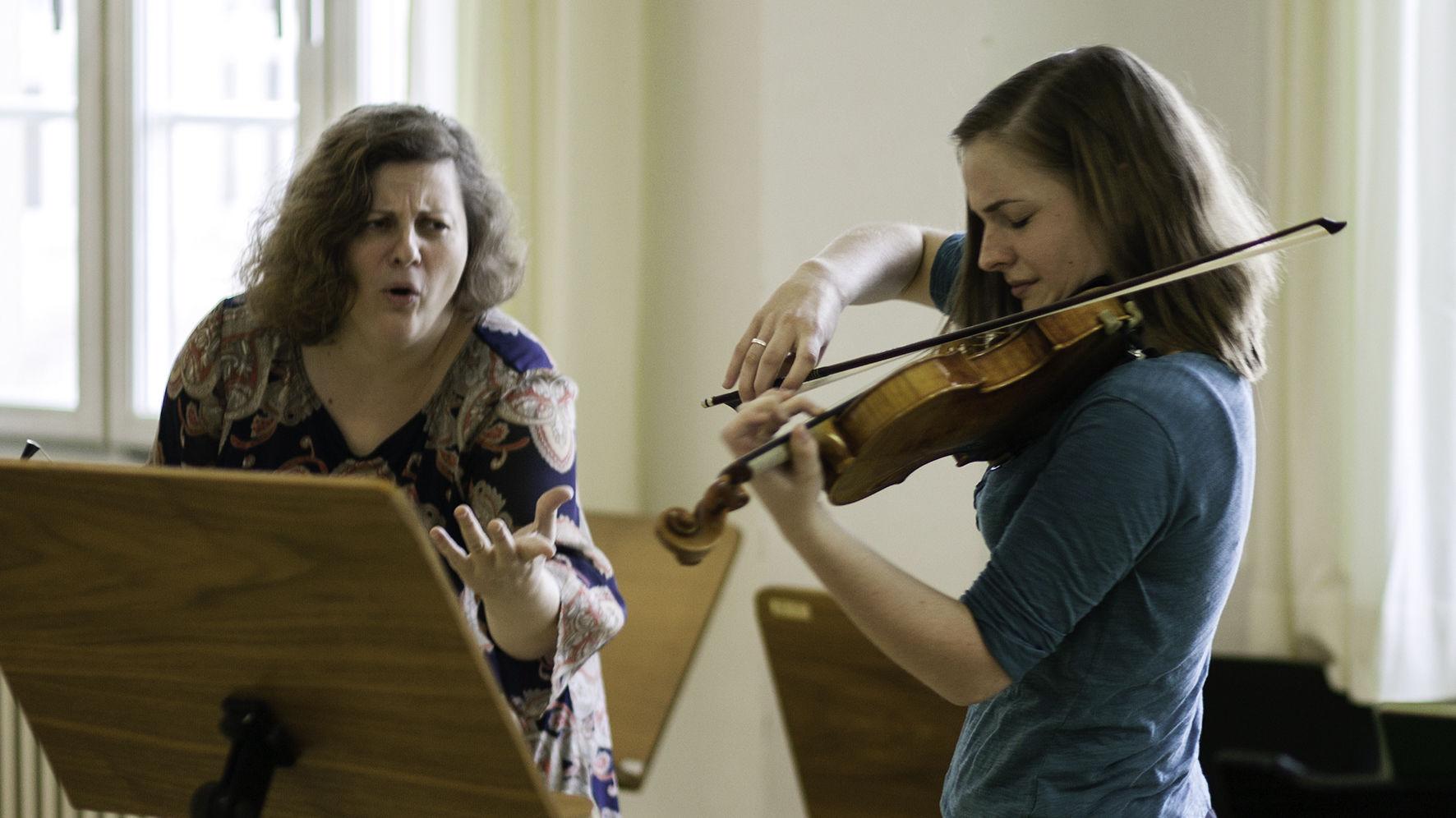 Meisterkurs Violine bei Prof. Natalia Prischepenko/Foto: Ronny Waleska