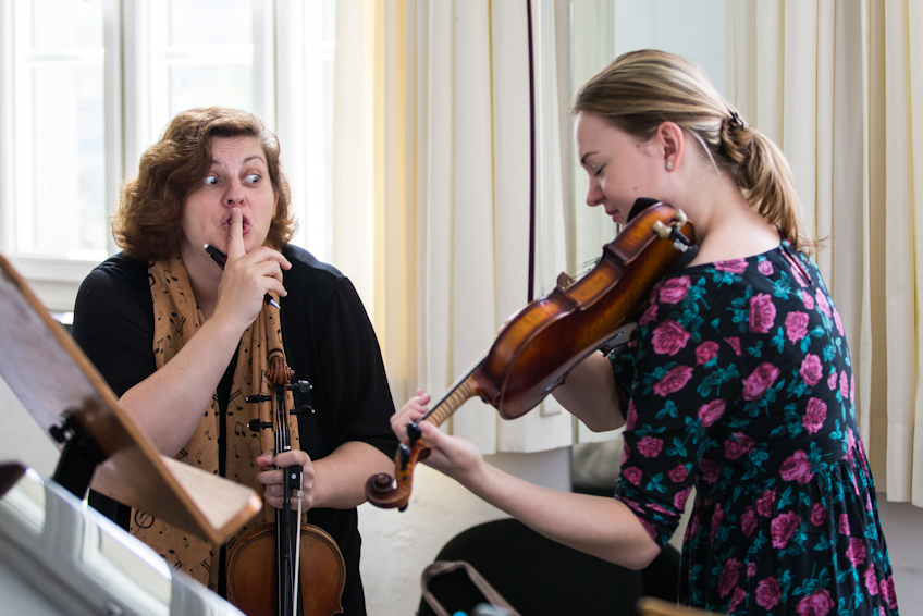 Meisterkurs Violine bei Prof. Natalia Prischepenko (Foto: Ronny Waleska)