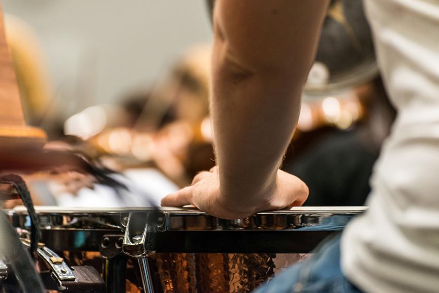 An der großen Trommel/Foto: Marcus Lieder