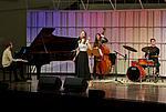 Ensemblewettbewerb 2021 Karoline Weidt Quartett: Mikołaj Suchanek (Klavier), Karoline Weidt (Gesang), Loreen Sima (Kontrabass), Valentin Steinle (Drums)/Foto: Sven Claus