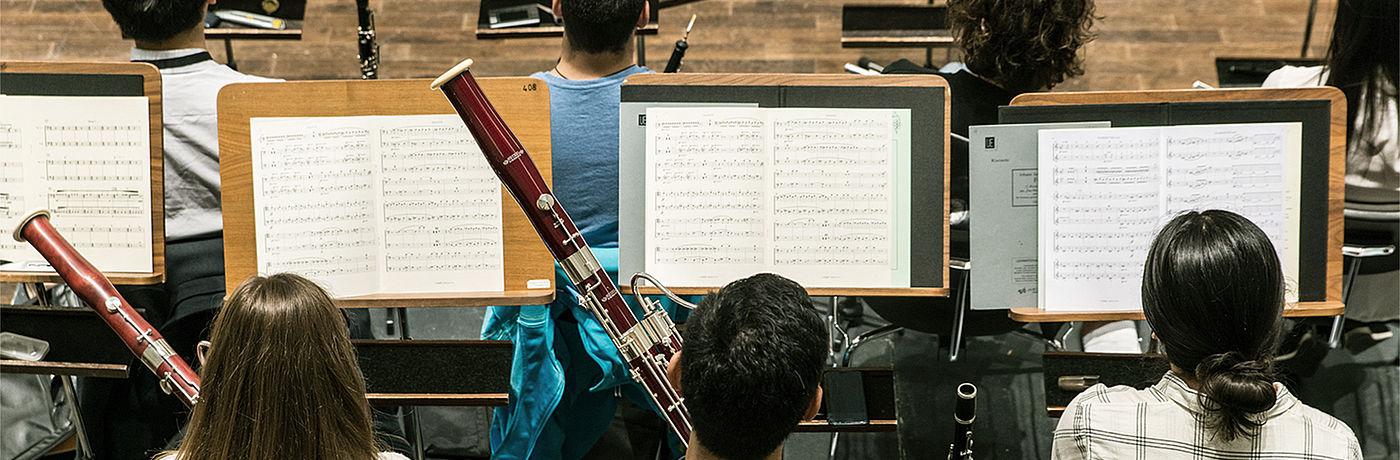 Orchesterprobe Bläser/Foto: Marcus Lieder