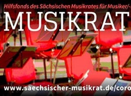 Banner Musikrat hilft sofort/Foto: Sächsischer Musikrat e.V.