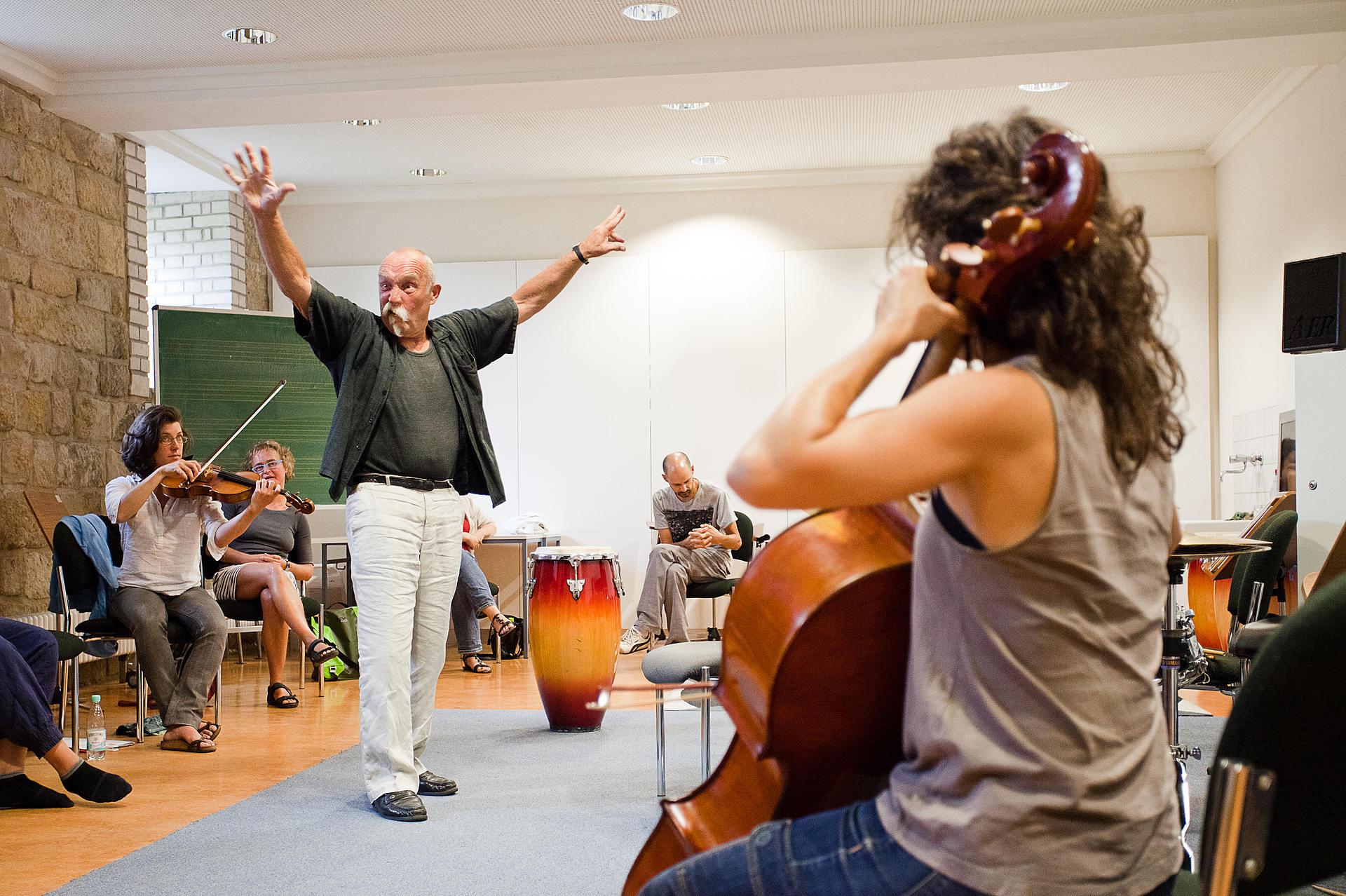 Meisterkurs Freie Improvisation, Prof. Günter Baby Sommer (Foto: Ronny Waleska)