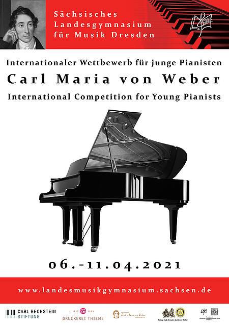 Plakat Klavierwettbewerb 2021