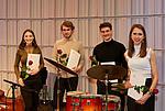 Ensemblewettbewerb 2021 Karoline Weidt Quartett: Loreen Sima (Kontrabass), Mikołaj Suchanek (Klavier), Valentin Steinle (Drums), Karoline Weidt (Gesang)/Foto: Sven Claus