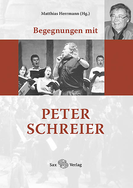 Cover Buch Peter Schreier/Foto: Sax-Verlag