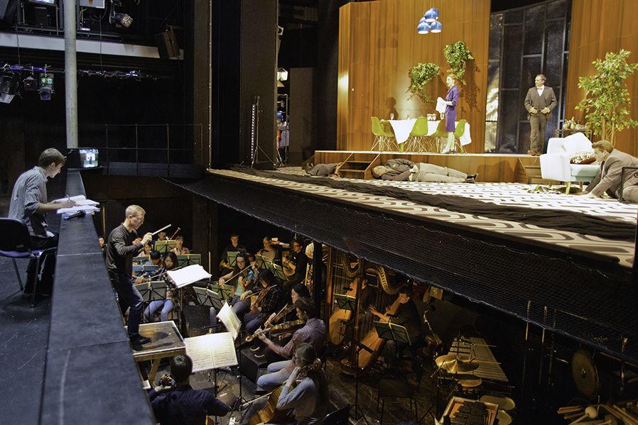 im Orchestergraben bei Opernproduktion im Kleinen Haus/Foto: Ronny Waleska