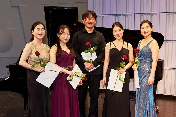 Ensemblewettbewerb 2021 Edith Quintett: Youbin Min (Violine), Bitna Song (Violoncello), Joonbyeong Lee (Klavier), Minkyung Choi (Viola), Yeeun Suh (Violine)/Foto: Sven Claus