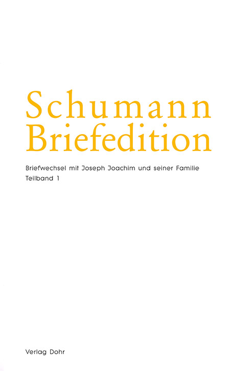 Buchcover Schumann-Briefeditionen SerieII/Foto: Dohr-Verlag