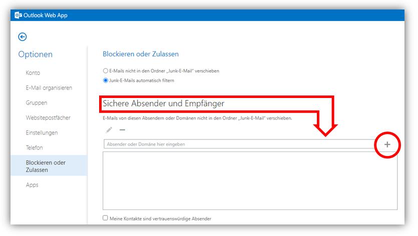 1.2.8 (1) - Konten / Blockieren oder Zulassen