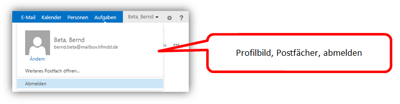 1.2 (2) - Rechter Bereich des Browserfensters